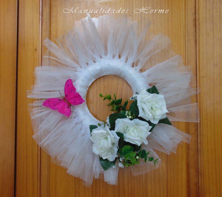 Manualidades herme como hacer una corona para decoraci n - Como decorar para una boda ...