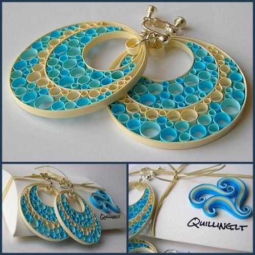 quilled earrings | Quilled Paper Earring Patterns and Designs - Life Chilli