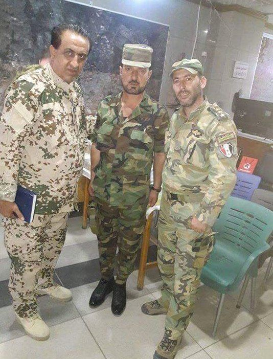 Newly appointed 'head of security in #Aleppo' General Ziad Saleh(left) met with Colonel Suhail Al-Hassan(The Tiger).