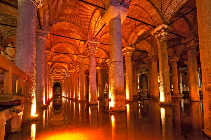 Basilica Cistern, Istanbul - Constructed in 532 by Justinian