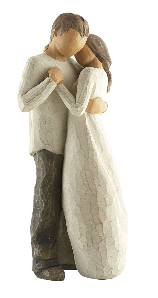 """Willow Tree Promise figurine--a constant reminder that love endures. Sentiment on enclosed card reads: """"Hold dear the promise of love.""""  I've always wanted to start collecting Willow Tree figurines"""