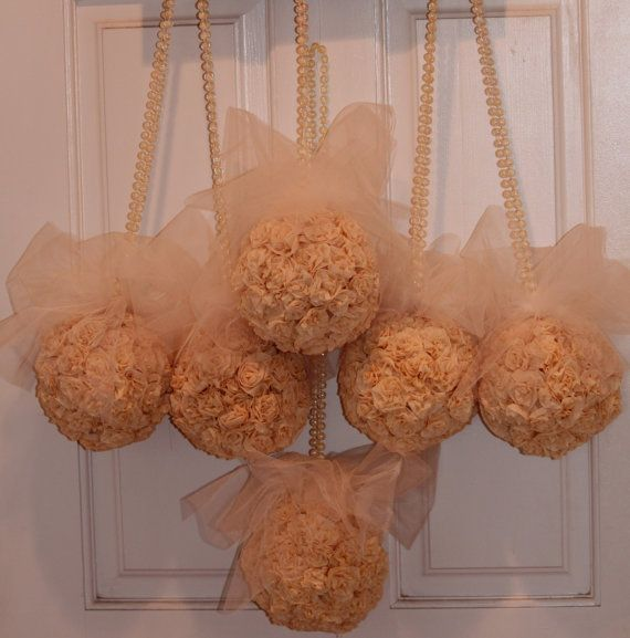 Kissing Balls Paper Flower Kissing Balls Pew Kissing Balls Wedding
