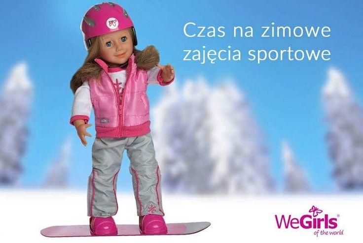 """""""Hu! Hu! Ha! Nasza zima zła! Szczypie w nosy, szczypie w uszy Mroźnym śniegiem w oczy prószy"""". Czas na sporty zimowe! Razem z przyjaciółkami #WeGirls zaszalejcie na stokach! Zestaw snowboardowy dostępny tutaj: https://wegirls.com/pl/ubranka-dla-lalek/105-zestaw-zimowy-snowboardowy.html"""