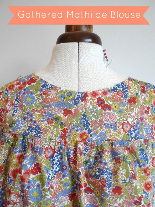 Want to avoid sewing the tucks on the Mathilde Blouse ? I'm going to show you how to create a lovely, loose-fitting smock version by gath...