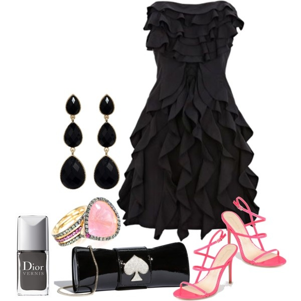 party girl: Casual Fashion, Parties Outfits, Black Dresses Outfits, Dreams Closet, Late Night, Pink Shoes, Little Black Dresses, The Dresses, Bigger Closet