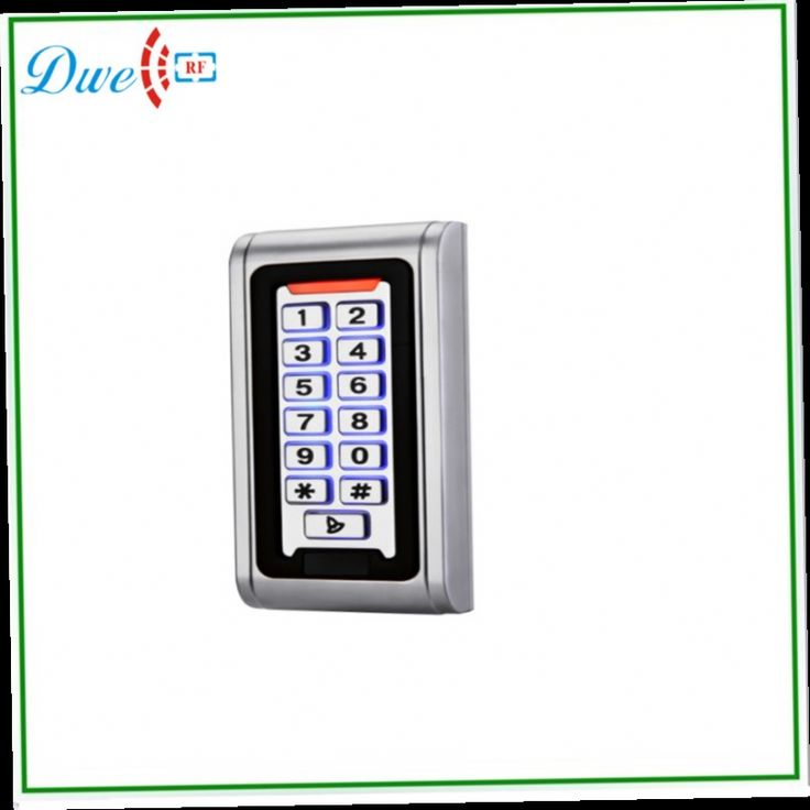 48.00$  Buy here - http://alipmp.worldwells.pw/go.php?t=32331818757 - free shipping   unique door bell function 125khz IP68 12V  silver backlight  Waterproof  outdoor access smart   keypad  reader
