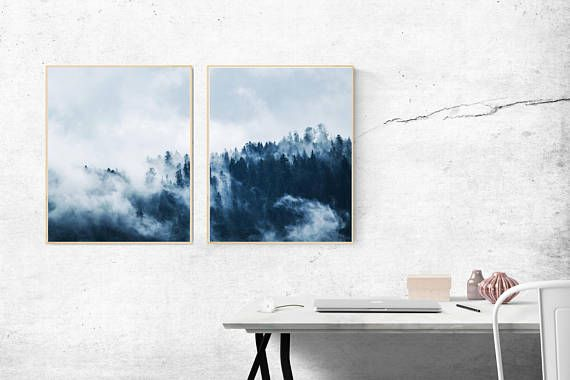 2 Piece Woodland Print Forest Photography Printable