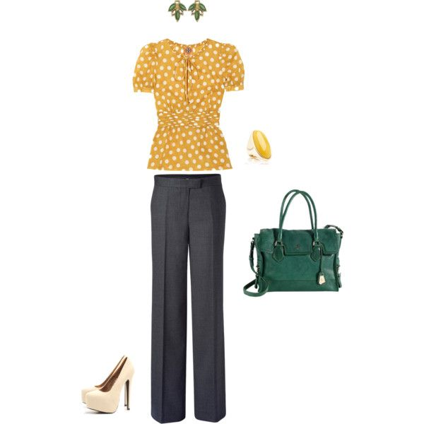 Professional look by Christina on Polyvore.: Professional Look, Idea, Teacher Wardrobes, Teacher Duds, Teacher Outfits