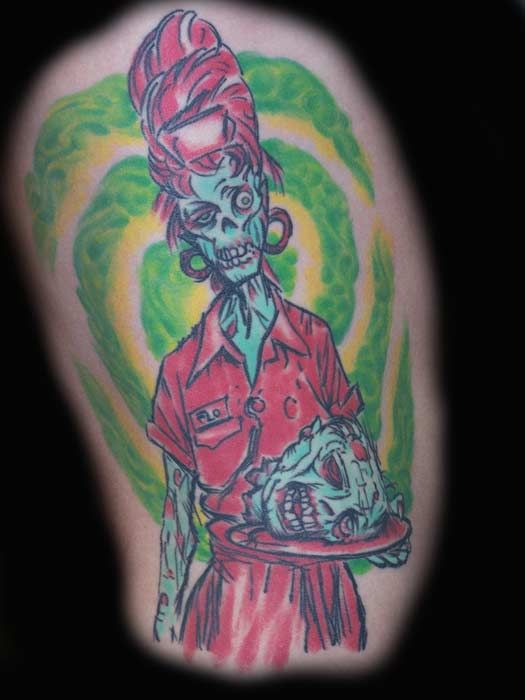 Zombie tattoos hot tattoo designs