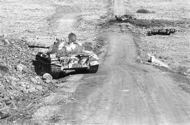 Syrian T-55 in 1973 Yom Kippur War
