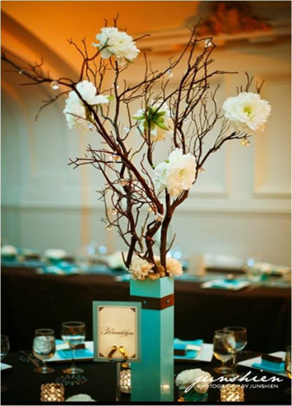 Branches and brown turquoise vase my favorite shades of