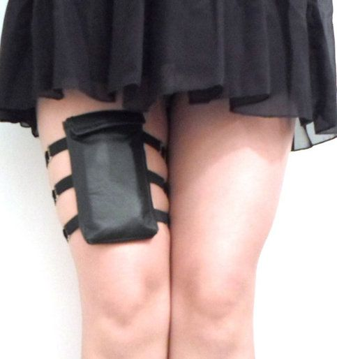 This Garter Wallet Is Made By Hand Using 3fully Adjustable Elastic Straps With Sliders And Metal