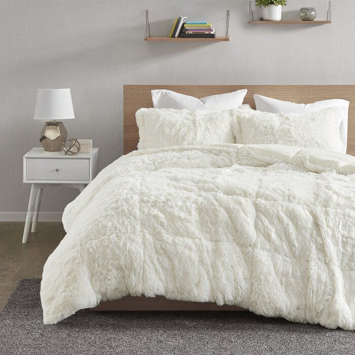 Https Secure Img1 Ag Wfcdn Com Im 27136426 Resize H700 P1 W700 5ecompr R85 1025 102520333 Trahan Shaggy Comf Comforter Sets Bedroom Comforter Sets Comforters