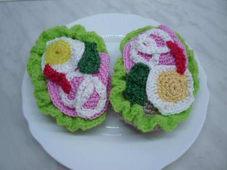 háčkované chlebíčky