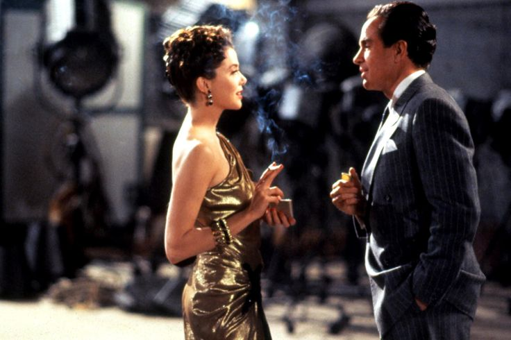 """Bugsy"" movie still, 1991.  L to R: Annette Bening, Warren Beatty."