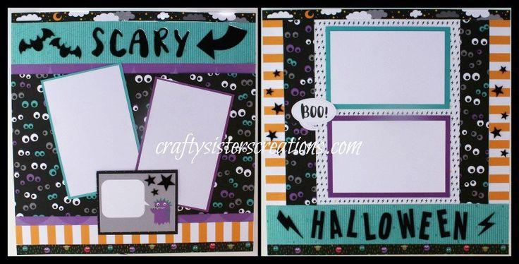 Scrapbook layout using Jeepers Creepers paper by Close To My Heart.  www.craftysisterscreations.com