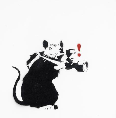 Banksy, 'Paparazzi Rat'                                                                                                                                                      More