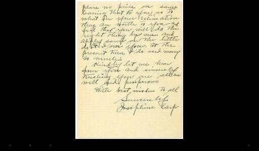 Josie Earp written