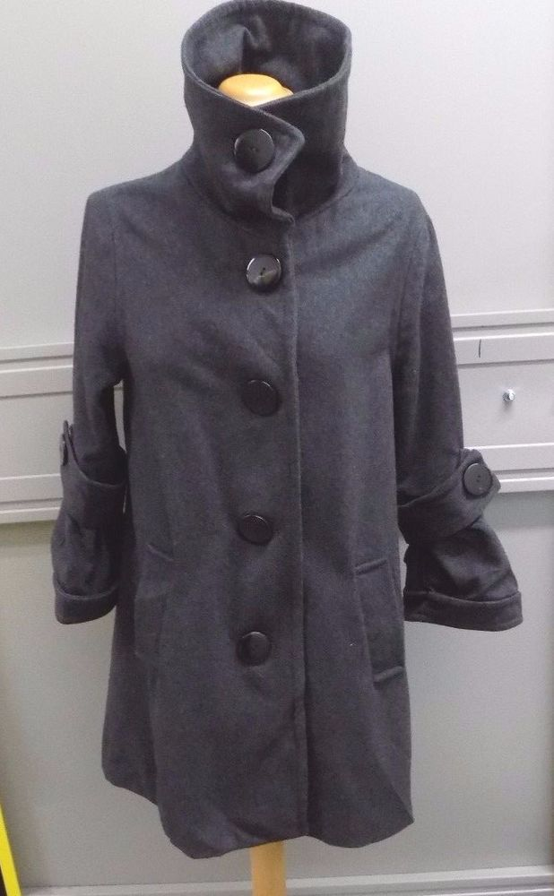 LBMM Luxe New York Ladies Grey Wool Coat Size Large  | Clothes, Shoes & Accessories, Women's Clothing, Coats & Jackets | eBay!