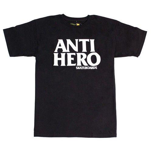 ANTI-HERO SKATEBOARDS BLACK HERO LOGO T-SHIRT
