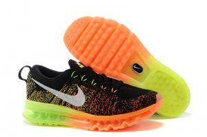 new product 2b998 8854c ... sweden buy running shoes nike flyknit air max black atomic orange volt  white super deals from