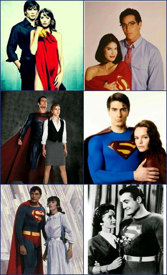 Clark Kent and Lois lane through the ages (not in love with the Smallville shot)