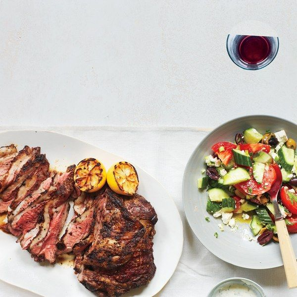 Let the yogurt work its marinade magic overnight in this stunning main course. Look for a small butterflied boneless leg of lamb at your supermarket, or ask your butcher to butterfly one for you.