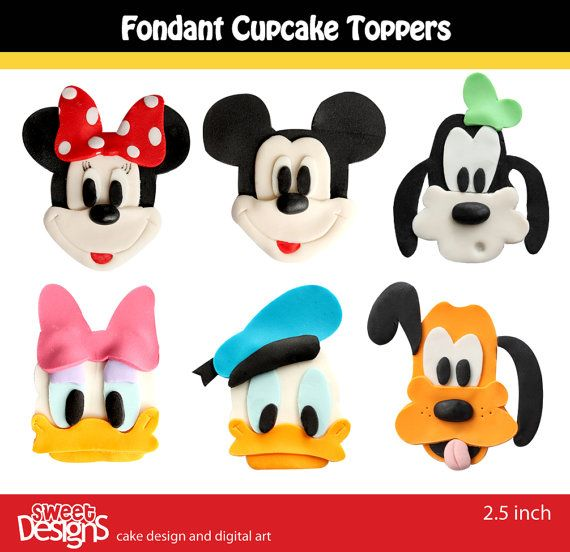 12 Fondant toppers for cupcakes or cookies by mjtabush on Etsy, $25.00