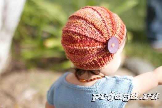 Детские шапки вязание спицами секциями