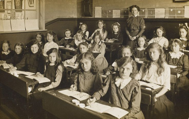 (Victorian Public School for girls from wealthy families)