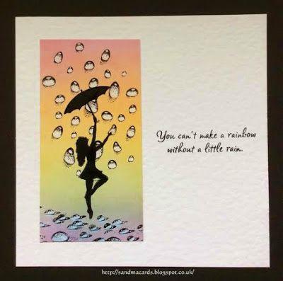 Sandma's Handmade Cards: Rainbow Silhouette