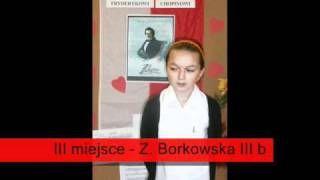 Szkolny Konkurs Recytatorski ku czci F. Chopina w roku szkolnym 2010/11