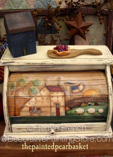 The Decorative Painting Store: Saltbox Breadbox Pattern - Terrye French, Newly Added Painting Patterns / e-Patterns