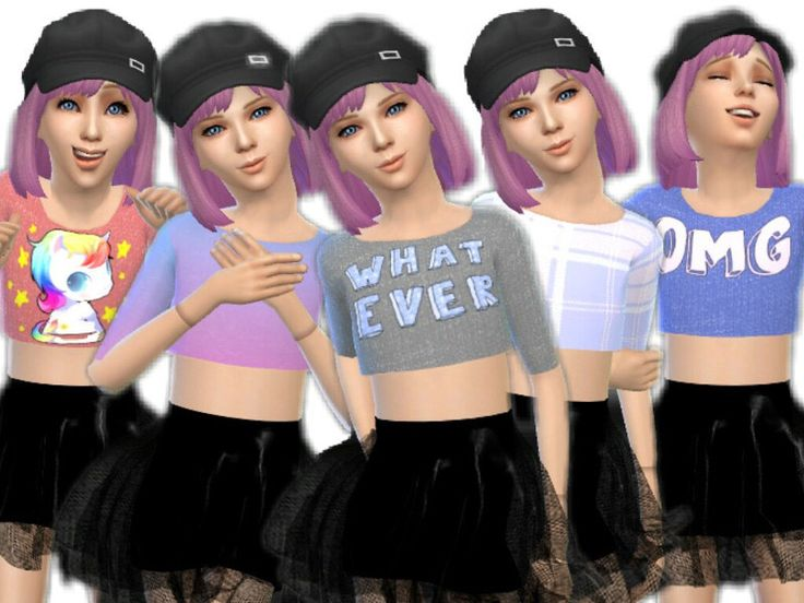 Cute Child Crop Top The Sims 4 Catalog in 2020 Sims 4