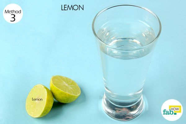 lemon water to get rid of hangover