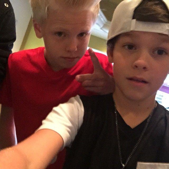 Carson Lueders and Hayden Summerall (selfie)
