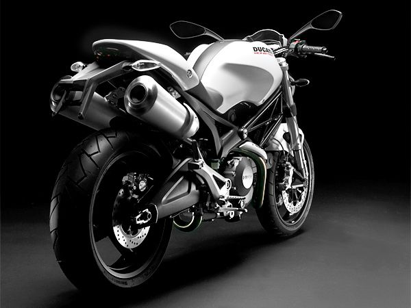 Ducati 696+ in White nice match for a young man who likes to test his adrenaline...