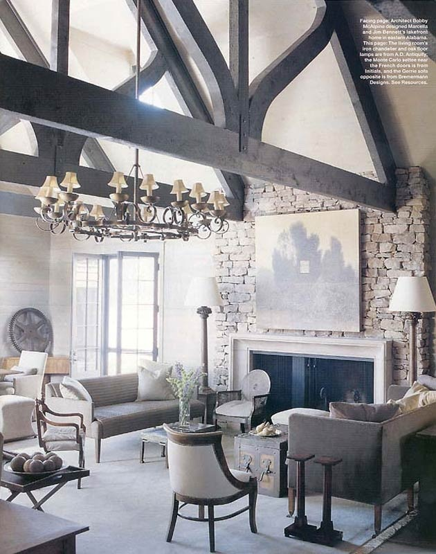 Vaulted Trussed Ceiling by McAlpine Tankersley | South Shore Decorating Blog