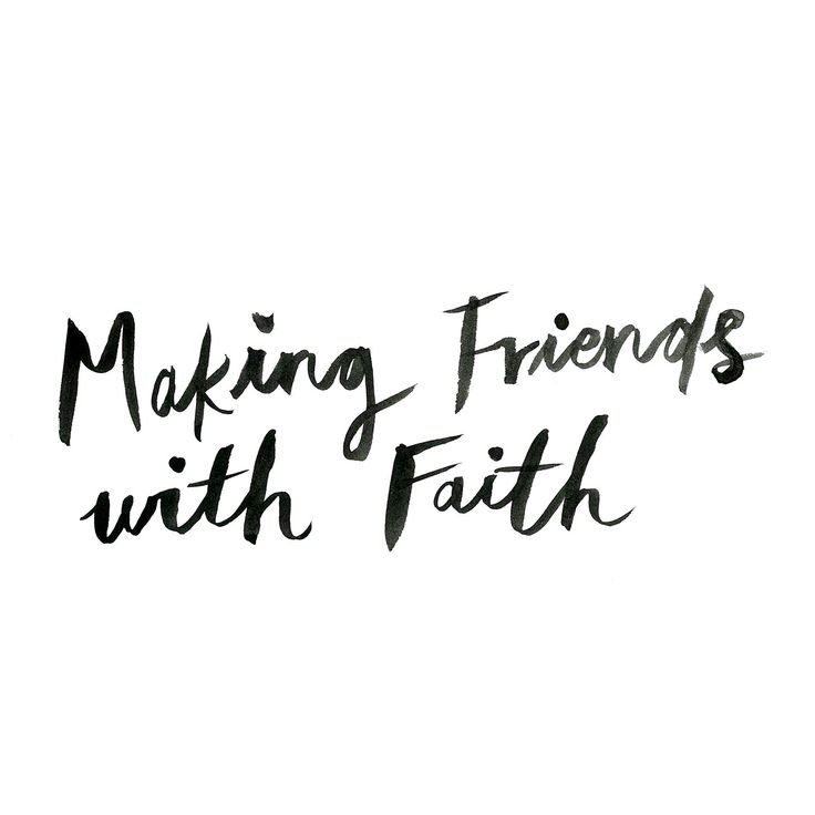 Making friends with faith www.oddmolly.com