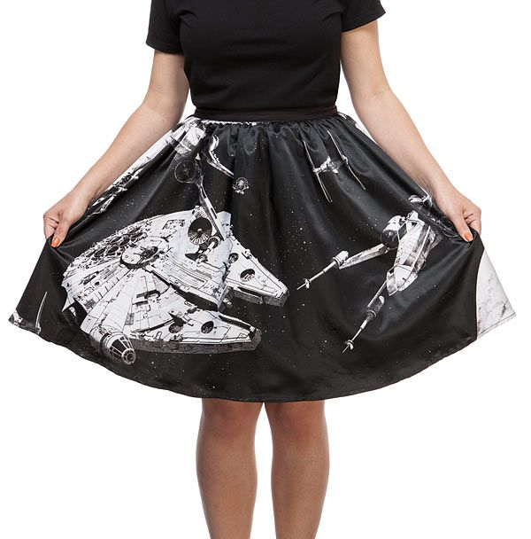 Star Wars Space Collage Skirt