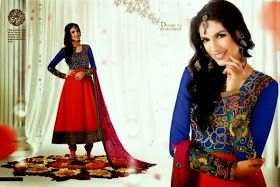 blue and red combination compliment each other and present a awesome look...