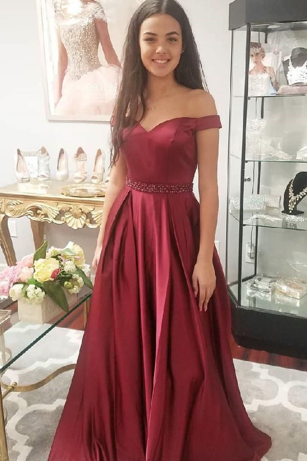 194d3c725257 Hot Sale Luscious Long Prom Dresses Elegant Off The Shoulder Burgundy Long Prom  Dress Party Dress Prom Dress 2019 #PromDress2019, Burgundy Party Dresses ...