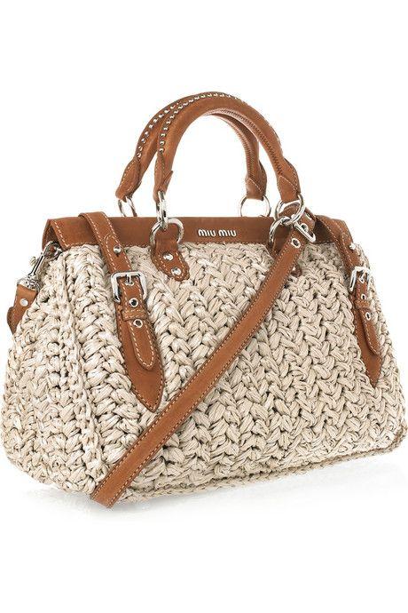 Miu Miu ~  Fun Straw Bag For Spring And Summer ...