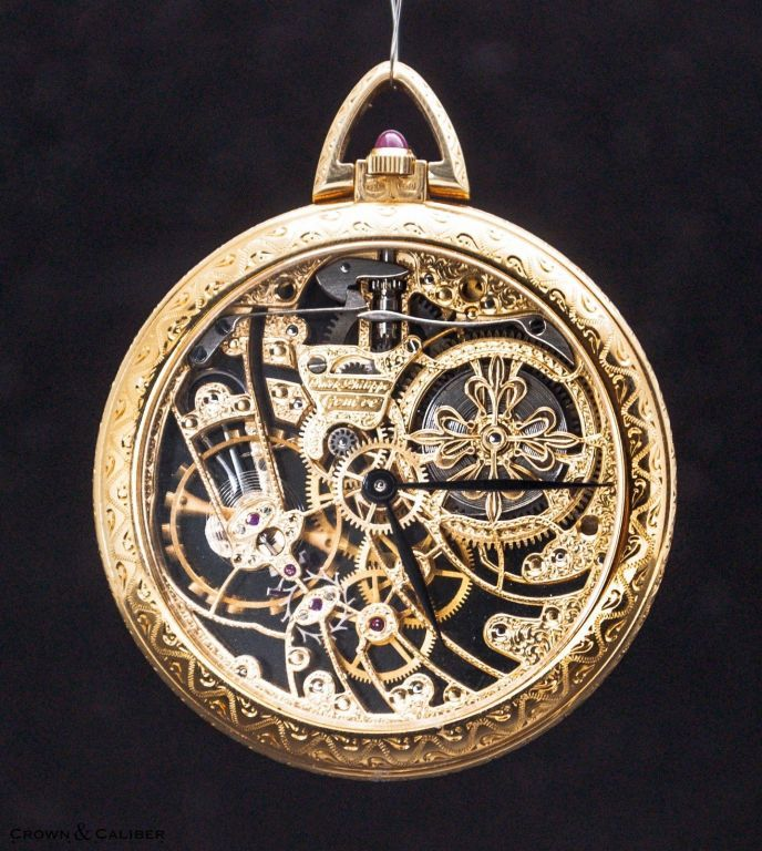 Patek philippe very fine and rare yellow gold skeleton pocket watch ref 894 pocket watches for Patek philippe skeleton