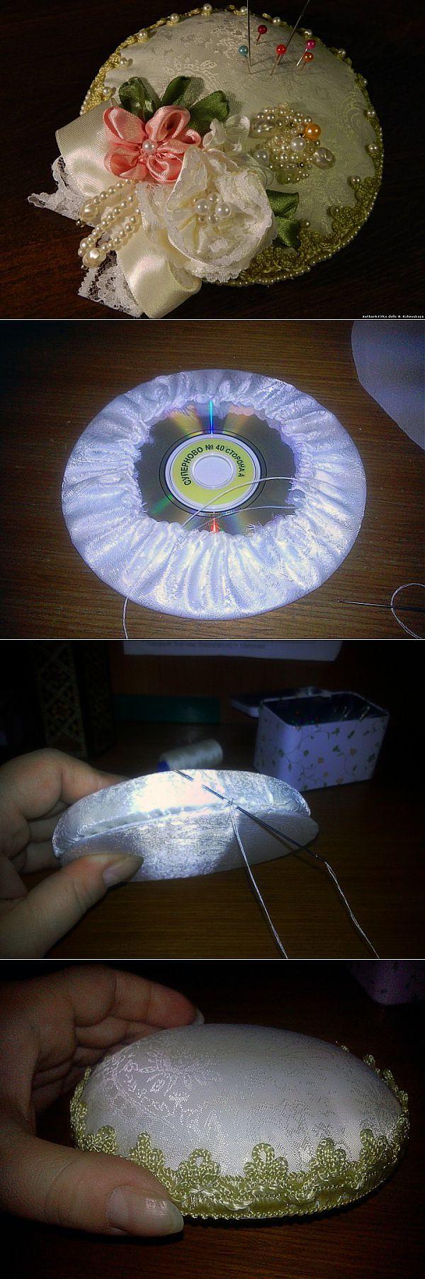 Игольница из дисков МК. | Уголок рукодельницы | Постила