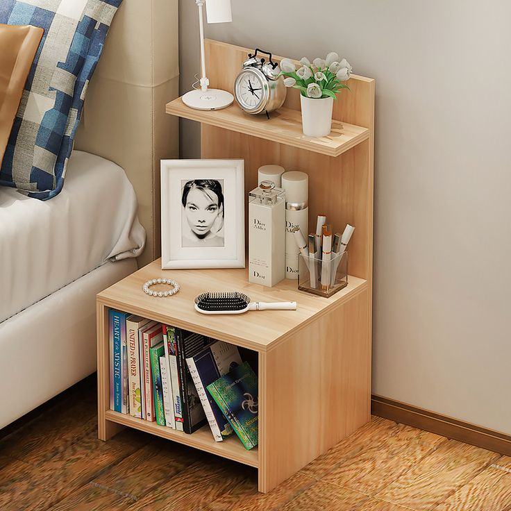 Simple Bedside Table Dressing Cabinet Bedroom Locker Multi-function Side Cabinet Bedside Locker Storage Cabinets Nightstand