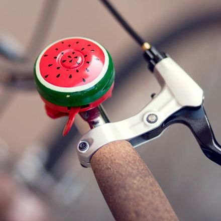 Hand-Painted Bike Bell Watermelon, via Poketo