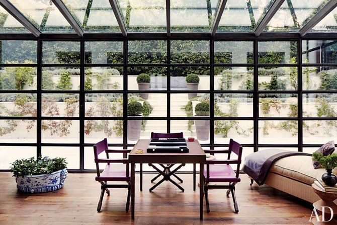 windows. A Monte Carlo House by Timothy Whealon : Interiors + Inspiration : Architectural DigestConservatory, Sunrooms, Interiors, Glasses Wall, Windows, Monte Carlo, Montecarlo, Architecture Digest, Sun Room
