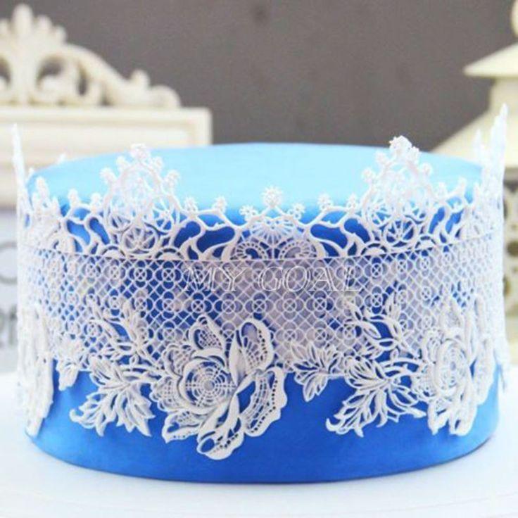 Lace For Cake Decorating : Best 25+ Fondant lace ideas on Pinterest Fondant flowers ...