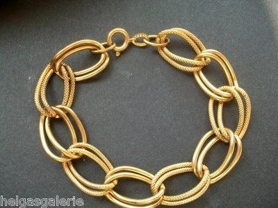 Vintage goldfarbenes Doppel Gliederarmband - sehr elegant und top erhalten nur € 9,95